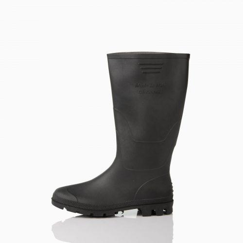 13-505130907 Μπότα γόνατος μαύρη. Υλικό κατασκευής: PVC, αντιολισθητικό.