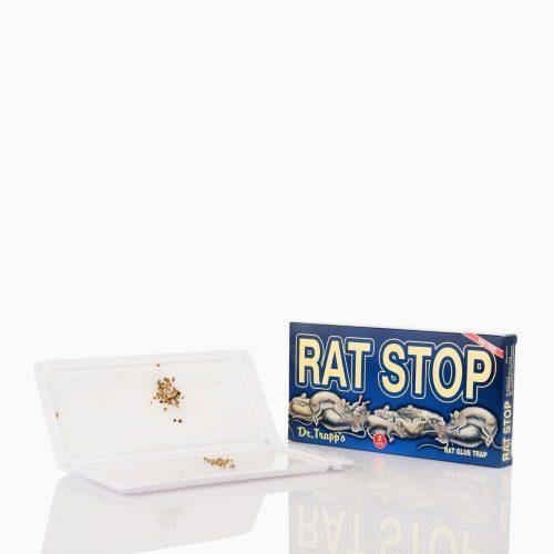 RAT-STOP Έτοιμη παγίδα με κόλλα και δόλωμα για αρουραίους. Περιέχει 2 δισκάκια με άοσμη κόλλα, μεγάλης διάρκειας και ακίνδυνη για παιδιά και κατοικίδια