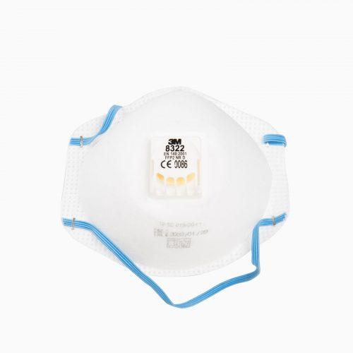 3M-8322 Μάσκα (FFP2) μιας χρήσης που προσφέρει αξιόπιστη, αποτελεσματική προστασία έναντι λεπτών σωματιδίων.