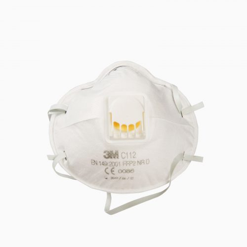 3M-C112 Μάσκα σκόνης, σταγονιδίων (FFP2) με βαλβίδα εκπνοής.